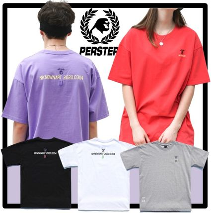 Unisex Street Style Short Sleeves Oversized T-Shirts
