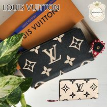 Louis Vuitton MONOGRAM Monogram Leather Long Wallet  Logo Long Wallets