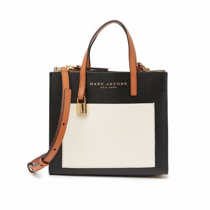 MARC JACOBS 2WAY Plain Leather Crossbody Totes