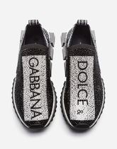 Dolce & Gabbana Casual Style Bi-color With Jewels Logo Low-Top Sneakers