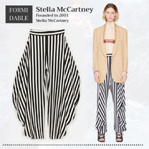 Stella McCartney Stripes Casual Style Silk Street Style Long Party Style