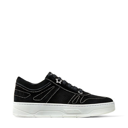 Platform Lace-up Casual Style Suede Street Style Plain Logo