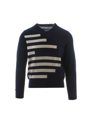 Cashmere Street Style V-Neck Long Sleeves Sweaters