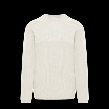 MONCLER Sweaters Crew Neck Wool Long Sleeves Plain Logo Sweaters 2