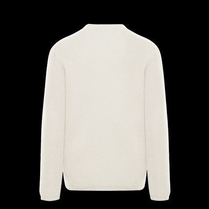 MONCLER Sweaters Crew Neck Wool Long Sleeves Plain Logo Sweaters 3