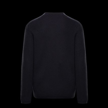 MONCLER Sweaters Crew Neck Wool Long Sleeves Plain Logo Sweaters 6