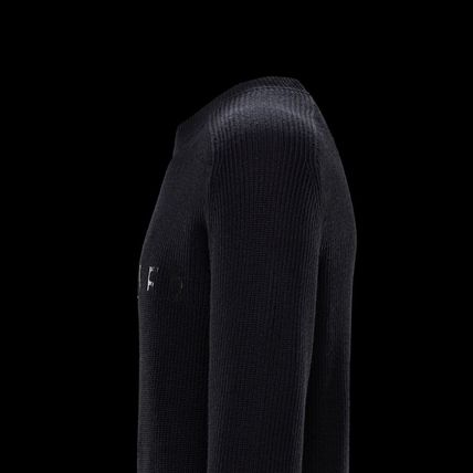 MONCLER Sweaters Crew Neck Wool Long Sleeves Plain Logo Sweaters 7