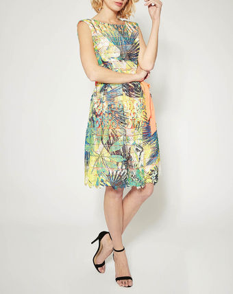 Flower Patterns Sleeveless Dresses