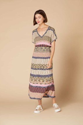 Flower Patterns Long Short Sleeves Dresses