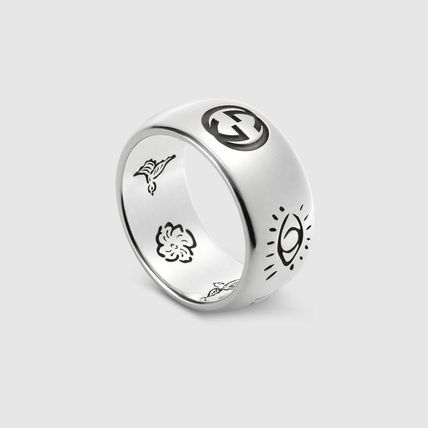 """GUCCI """"Blind For Love"""" Ring In Silver"""