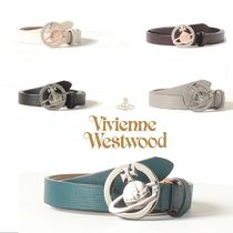 Vivienne Westwood Casual Style Leather Logo Belts