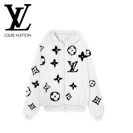 Louis Vuitton MONOGRAM Monogram Unisex Oversized Logo Luxury Hoodies