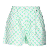 MiuMiu Printed Pants Short Heart Casual Style Street Style Leather