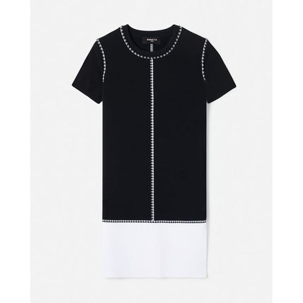 Short Sleeves Office Style Dresses