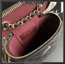 CHANEL Shoulder Bags Casual Style Calfskin Vanity Bags 3WAY Chain Plain Leather 4
