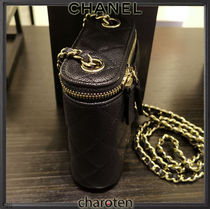 CHANEL Shoulder Bags Casual Style Calfskin Vanity Bags 3WAY Chain Plain Leather 5