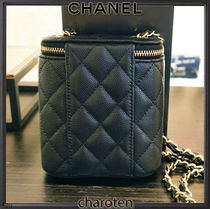 CHANEL Shoulder Bags Casual Style Calfskin Vanity Bags 3WAY Chain Plain Leather 6
