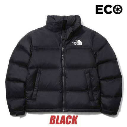 THE NORTH FACE Logo Unisex Street Style Down Jackets