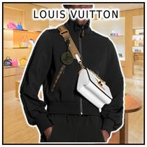 Louis Vuitton Black Monogram Jogging Jacket In Technical Jersey
