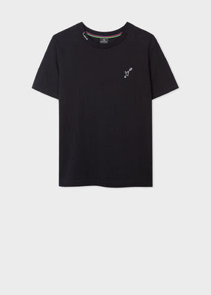 Paul Smith Crew Neck Plain Cotton Short Sleeves Logo T-Shirts