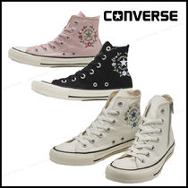 CONVERSE ALL STAR Flower Patterns Star Casual Style Street Style Plain Logo