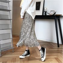 Pencil Skirts Flared Skirts Leopard Patterns Casual Style