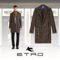 ETRO Paisley Wool Long Chester Coats