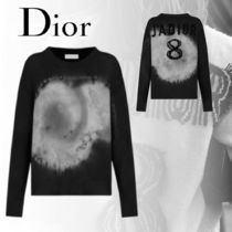 Christian Dior Crew Neck Cashmere Long Sleeves Logo Cashmere
