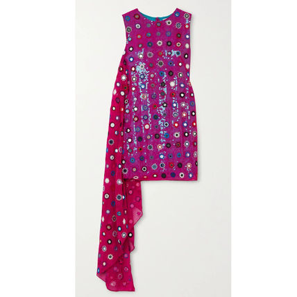 Short Dots Casual Style Tight Sleeveless Party Style