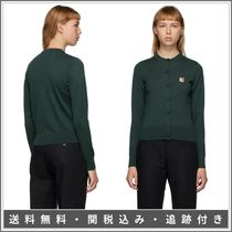 MAISON KITSUNE Cable Knit Monogram Casual Style Wool Street Style
