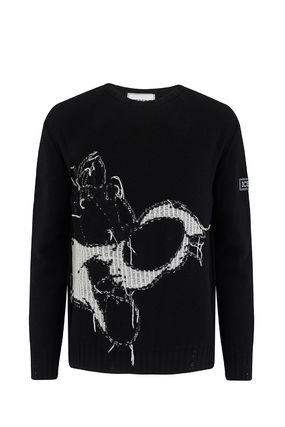 Crew Neck Wool Long Sleeves Sweaters