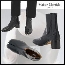 Maison Margiela Tabi Plain Leather Logo Boots