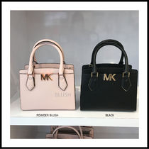 Michael Kors Casual Style 2WAY Bi-color Plain Leather Office Style