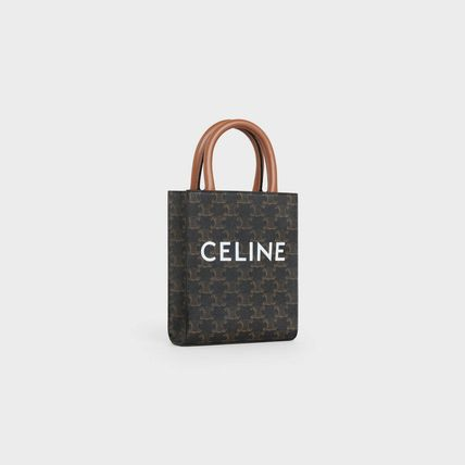 Casual Style Calfskin Canvas 2WAY Leather Elegant Style