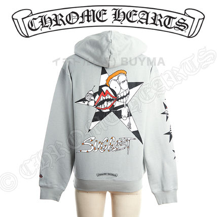 CHROME HEARTS Hoodies Street Style Hoodies