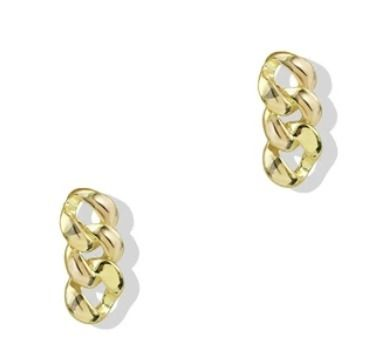 Casual Style 18K Gold Elegant Style Earrings