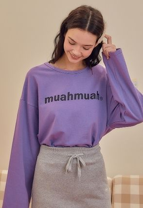 Street Style Long Sleeves Cotton Oversized
