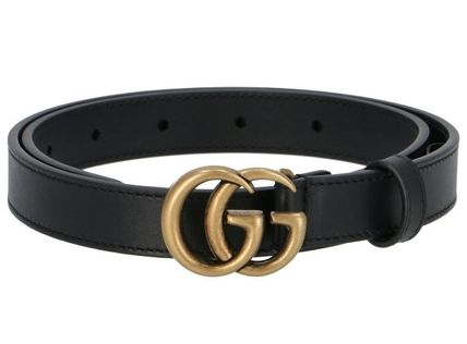GUCCI Logo Casual Style Unisex Leather Street Style Belts