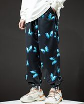Street Style Other Animal Patterns Oversized Cropped Pants