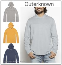Outer known Pullovers Unisex Street Style Long Sleeves Plain Cotton