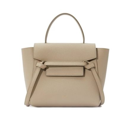 CELINE Belt 2WAY Plain Shoulder Bags