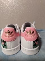 adidas Flower Patterns Round Toe Rubber Sole Lace-up Casual Style