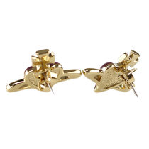 Vivienne Westwood Casual Style Party Style Brass With Jewels Earrings