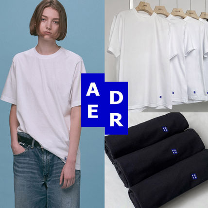 ADERERROR More T-Shirts Unisex Street Style Logo T-Shirts