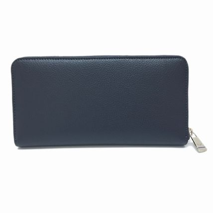 Plain Leather Long Wallet  Long Wallets