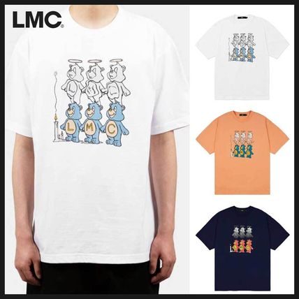 LMC More T-Shirts Unisex Street Style Plain Cotton Short Sleeves Oversized
