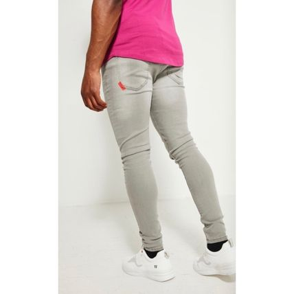 11 Degrees Skinny Denim Street Style Plain Cotton Skinny Jeans 3