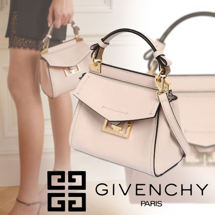 GIVENCHY GV3 Casual Style Calfskin 2WAY Plain Leather Party Style