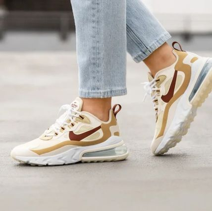Nike AIR MAX 270 Rubber Sole Lace-up Casual Style Unisex Street Style Logo