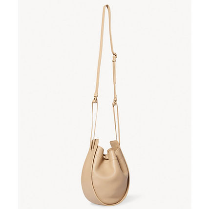 The Row Casual Style Suede Plain Leather Purses Elegant Style